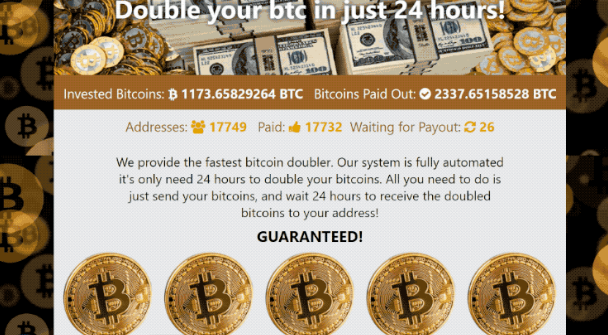 Double Your BTC Email Scam